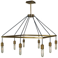 Celestial 8 Light 24 inch Antique Brass Chandelier Ceiling Light