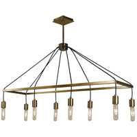 Celestial 8 Light 40 inch Antique Brass Island Chandelier Ceiling Light