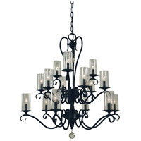 Ilsa 15 Light 36 inch Matte Black Chandelier Ceiling Light