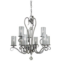 Framburg Brushed Nickel Metal Chandeliers