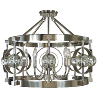 Ephemeris 5 Light 22 inch Polished Nickel Semi Flush Mount Ceiling Light