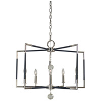 Felicity 5 Light 28 inch Polished Nickel with Matte Black Accents Chandelier Ceiling Light