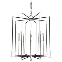 Felicity 8 Light 36 inch Polished Nickel with Matte Black Accents Foyer Chandelier Ceiling Light