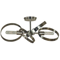 Copernicus 4 Light 22 inch Polished Nickel Semi Flush Mount Ceiling Light