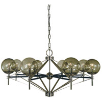 Calista 8 Light 40 inch Polished Nickel with Matte Black Accents Chandelier Ceiling Light