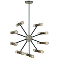 Nebula 18 Light 21 inch Polished Nickel with Matte Black Accents Chandelier Ceiling Light
