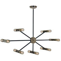 Nebula 14 Light 40 inch Polished Nickel with Matte Black Accents Chandelier Ceiling Light