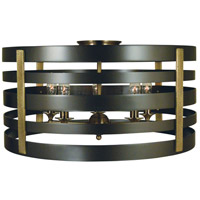 Framburg 5092MB/AB Pastoral 5 Light 21 inch Mahogany Bronze with Antique Brass Accents Semi Flush Mount Ceiling Light