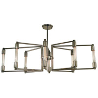 Focal 8 Light 40 inch Polished Nickel Chandelier Ceiling Light