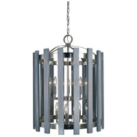 Arcadia 10 Light 22 inch Polished Nickel Chandelier Ceiling Light