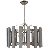 Arcadia 5 Light 22 inch Polished Nickel Chandelier Ceiling Light