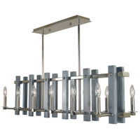 Arcadia 12 Light 40 inch Polished Nickel Island Chandelier Ceiling Light