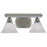 Maisonette 2 Light 17 inch Polished Silver Bath Light Wall Light