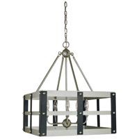 Framburg 5346SP/MBLACK Metro Artisan 5 Light 20 inch Satin Pewter/Matte Black Dining Chandelier Ceiling Light