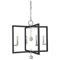 Framburg Polished Nickel/Matte Black Chandeliers