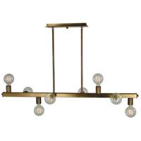 Framburg 5381AB Heloise 8 Light 40 inch Antique Brass Island Chandelier Ceiling Light