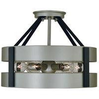 Framburg 5382SP/MBLACK Orion 6 Light 14 inch Satin Pewter/Matte Black Semi-Flush Mount Ceiling Light