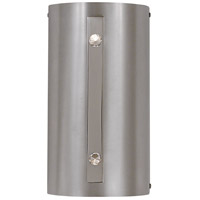 Oracle 2 Light 6 inch Satin Pewter w/ Polished Nickel Accents Bath Light Wall Light
