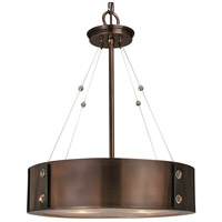 HA Framburg Oracle 4 Light Chandelier in Roman Bronze w/ Ebony Accents 5392RB