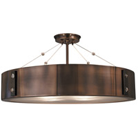 Oracle 4 Light 23 inch Roman Bronze with Ebony Semi-Flush Mount Ceiling Light