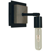 Framburg 5437MBLACK Loft 1 Light 5 inch Matte Black Sconce Wall Light