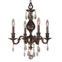 HA Framburg Czarina 4 Light Mini Chandelier in Roman Bronze 5594RB