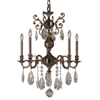 HA Framburg Czarina 5 Light Chandelier in Roman Bronze 5595RB photo thumbnail