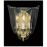 Framburg 6126PB Yorkshire 3 Light 9 inch Polished Brass Foyer Sconce Wall Light