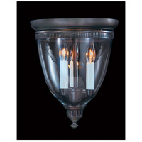 HA Framburg Jamestown 3 Light Semi-Flush Mount in Mahogany Bronze 6943MB
