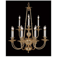 Framburg 7272PB Kensington 12 Light 31 inch Polished Brass Chandelier Ceiling Light