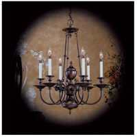 Framburg 7306VB Kensington 6 Light 25 inch Venetian Bronze Chandelier Ceiling Light