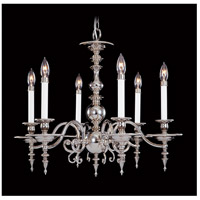 HA Framburg Kensington 6 Light Chandelier in Polished Silver 7446PS