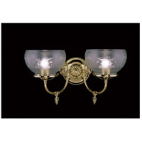 HA Framburg Chancery 2 Light Bath Light in Polished Brass 7522PB photo thumbnail