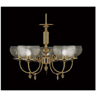 HA Framburg Chancery 5 Light Chandelier in Bronzed Gold Leaf 7525BGL