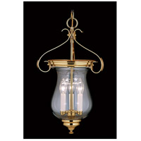 Framburg 7573PB Jamestown 3 Light 13 inch Polished Brass Foyer Chandelier Ceiling Light