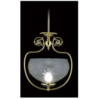 HA Framburg Chancery 1 Light Pendants in Polished Brass 7801PB