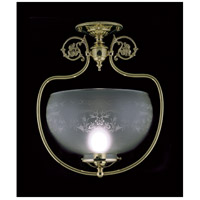Framburg 7811PB Chancery 1 Light 15 inch Polished Brass Semi-Flush Mount Ceiling Light