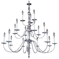 HA Framburg Jamestown 18 Light Foyer Chandelier in Satin Pewter 7918SP