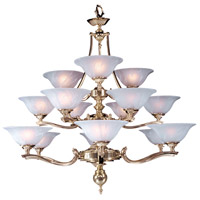 HA Framburg Fin de Siecle 15 Light Foyer Chandelier in Polished Brass/ Nuage 7995PB/N