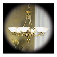 Fin De Siecle 6 Light 30 inch Polished Brass Dining Chandelier Ceiling Light in Without Shade