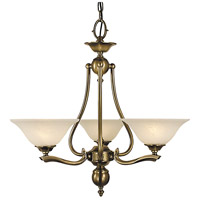 Fin De Siecle 3 Light 24 inch Antique Brass Dinette Chandelier Ceiling Light