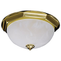 HA Framburg Fin de Siecle 3 Light Semi-Flush Mount in Polished Brass/ Nuage 8009PB/N