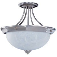 HA Framburg Fin de Siecle 3 Light Semi-Flush Mount in Satin Pewter/Nuage 8029SP/N