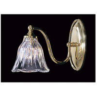 Geneva 1 Light 10 inch Polished Brass Bath Light Wall Light