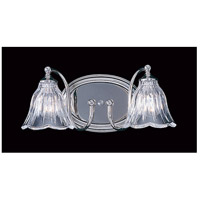 Geneva 2 Light 13 inch Polished Nickel Sconce Wall Light