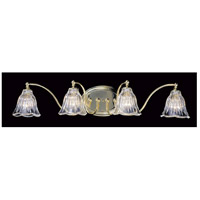 Geneva 4 Light 29 inch Polished Brass Bath Light Wall Light
