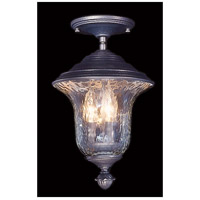 Carcassonne 3 Light 9 inch Iron Exterior Ceiling Lantern