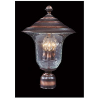 Carcassonne 3 Light 16 inch Siena Bronze Exterior Post Mount in Sienna Bronze