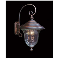 Carcassonne 3 Light 25 inch Siena Bronze Exterior Wall Lantern in Sienna Bronze