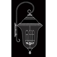 HA Framburg Carcassonne 5 Light Exterior in Iron 8334IRON